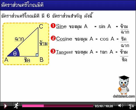 เรียนคณิตออนไลน์ ด้วยคลิปวีดีโอ