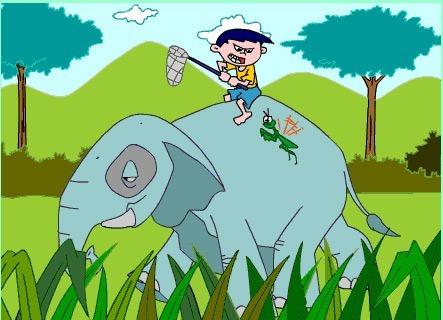 ขี่ช้างจับตั๊กแตน