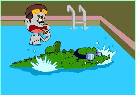 สอนจระเข้ว่ายน้ำ